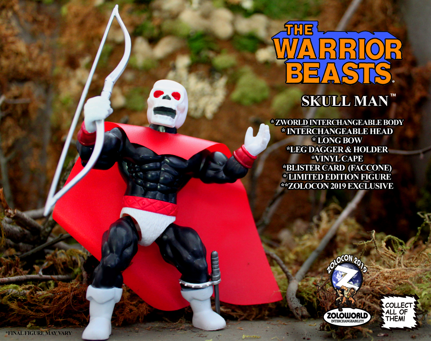 ZOLOCON 2019 ULTIMATE V.I.P. WEEKEND PASS EXCLUSIVE SKULL MAN